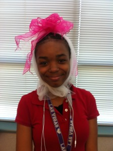 GIRL WITH BOW.7th grader